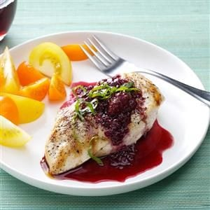 Chicken with Berry Wine Sauce Recipe