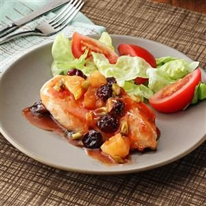 Chicken with Cherry Pineapple Sauce Recipe