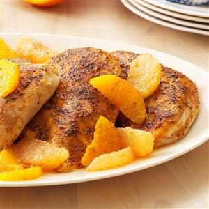Chicken with Three-Citrus Topping Recipe