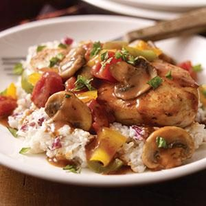 Chicken Cacciatore with Creamy Mashed Potatoes Recipe