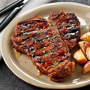 Chipotle-Honey Grilled T-Bones Recipe