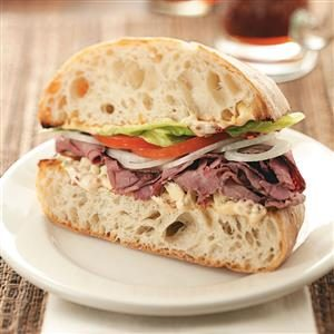 Chipotle Roast Beef Sandwiches Recipe