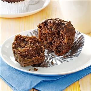Chocolate Banana Bran Muffins Recipe