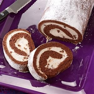 Chocolate Cannoli Cake Roll Recipe