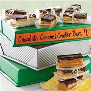 Chocolate Caramel Cracker Bars Recipe