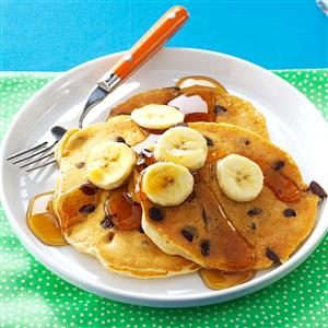 Chocolate Chip Elvis Pancakes