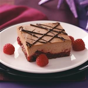 Chocolate Cran-Raspberry Cheesecake Bars Recipe