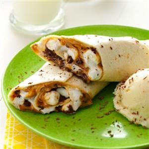 Chocolate Dessert Wraps Recipe