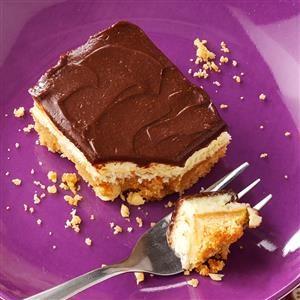 Chocolate-Peanut Cheesecake Bars Recipe
