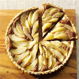 Chocolate Pear Hazelnut Tart Recipe