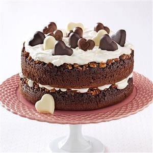 Chocolate-Praline Layer Cake Recipe