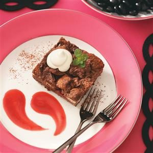 Chocolate-Raspberry Bread Pudding
