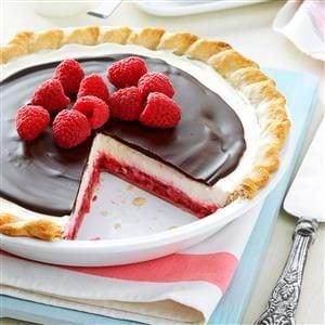 Chocolate Raspberry Pie Recipe photo by Taste of Home