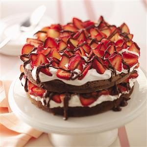 Chocolate Strawberry Torte Recipe