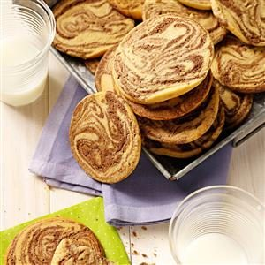 Chocolate-Swirled Peanut Butter Cookies Recipe