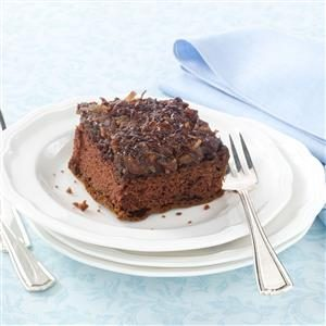 Chocolate Upside-Down Cake Recipe