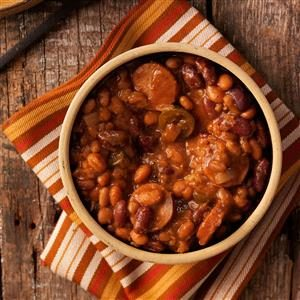 Chuck Wagon Beans with Sausage Recipe