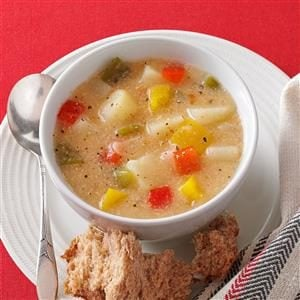 Chunky Pepper Potato Soup Recipe
