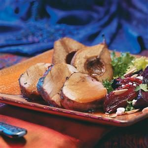 Cider-Molasses Pork Tenderloin with Pears Recipe