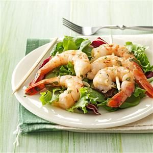 Cilantro-Basil Grilled Shrimp Recipe