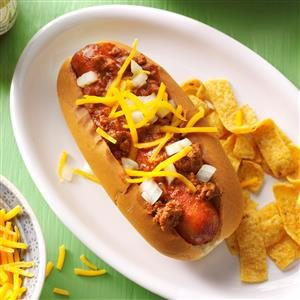Cincinnati Chili Dogs Recipe