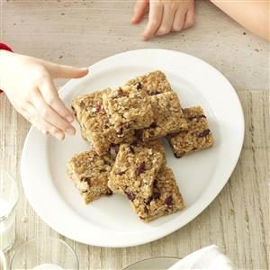 Cinnamon-Cranberry Oat Bars Recipe