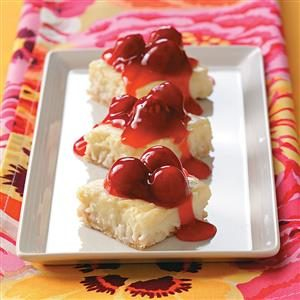 Coconut-Cherry Cream Squares Recipe