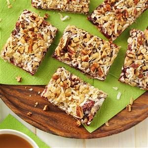 Coconut Cranberry Oat Bars Recipe