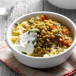 Coconut Lentils with Rice Recipe