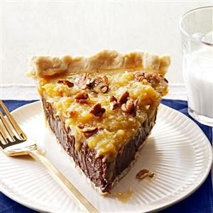 Menu #2 Dessert:  Coconut-Pecan German Chocolate Pie