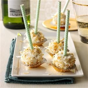 Coconut-Rum Cake Pops Recipe