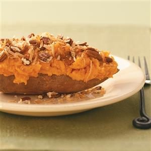 Coconut Twice-Baked Sweet Potatoes