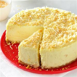 Coconut-White Chocolate Cheesecake Recipe