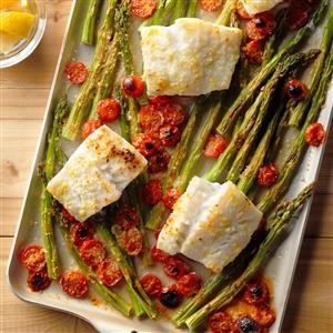 Cod and Asparagus Bake Recipe