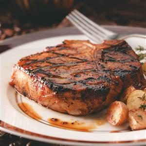 Coffee-Molasses Marinated Pork Chops Recipe