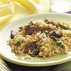 Coleslaw Beef Fried Rice Recipe