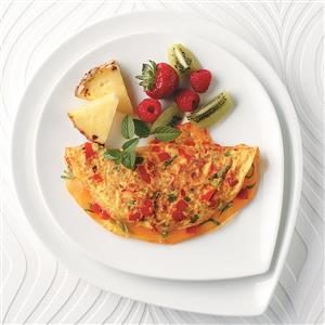 Colorful Cheese Omelet Recipe