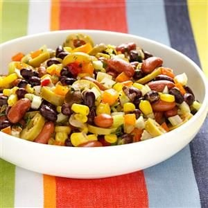 Menu #4 Salad: Colorful Corn 'n' Bean Salad