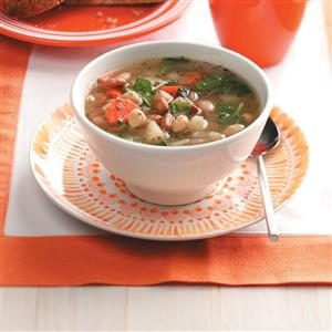 Colorful Three-Bean Soup Recipe