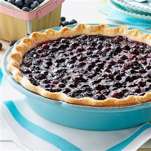 Contest-Winning Fresh Blueberry Pie Recipe