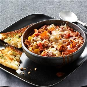 Contest-Winning Pepperoni Pizza Chili