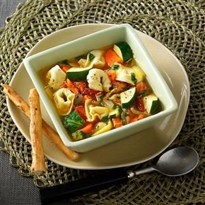 Contest-Winning Veggie Tortellini Soup Recipe