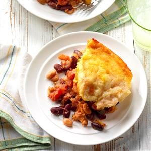 Cornbread-Topped Frijoles Recipe