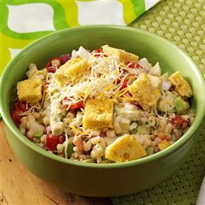 Corn Salad with Tamale Croutons Recipe