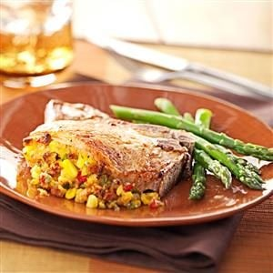 Corn-Stuffed Pork Chops Recipe