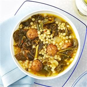 Couscous Meatball Soup Recipe