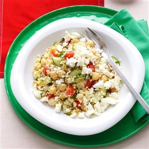 Couscous Tabbouleh with Fresh Mint & Feta Recipe