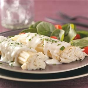 Crab-Stuffed Manicotti Recipe