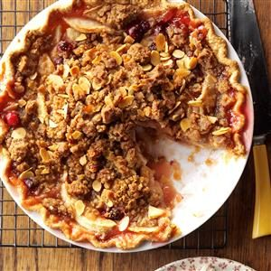 Cranberry-Almond Apple Pie Recipe