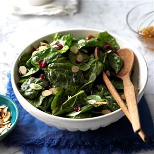 Cranberry Almond Spinach Salad Recipe